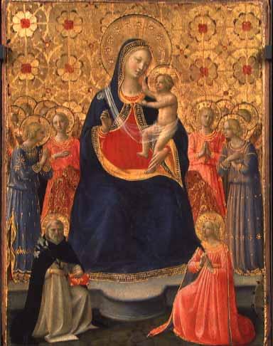 「聖母子と天使たち」ー フラ・アンジェリコ