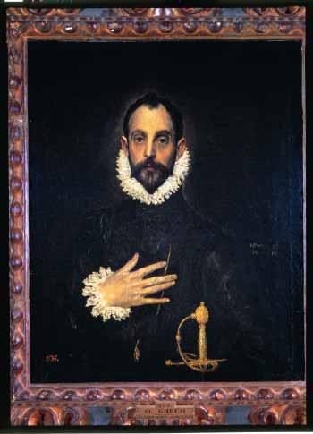 「胸に手を置く騎士の肖像」ー エル・グレコ