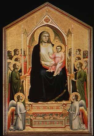 「荘厳の聖母(オンニサンティの聖母)」 ジョット・ディ・ボンドーネ