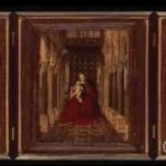 「三連祭壇画:教会内の玉座の聖母子」  ヤン・ヴァン・エイク