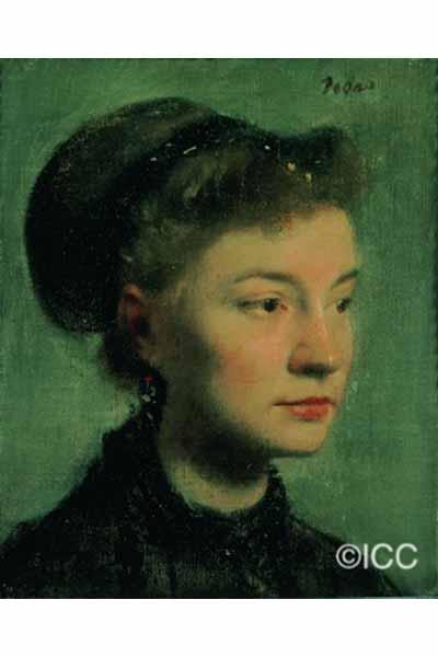 「若い女の肖像」  エドガー・ドガ