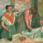 「アイロンをかける女たち」  エドガー・ドガ