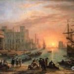 「夕日の港」  クロード・ロラン