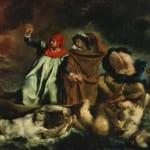 「ダンテの小舟」  ウジェーヌ・ドラクロワ