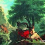 「モロッコのライオン狩り」  ウジェーヌ・ドラクロワ