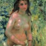 「陽光の中の裸婦」  ルノワール (オーギュスト・ルノワール)