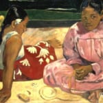 「タヒチの女たち(浜辺にて)」  ポール・ゴーガン