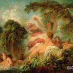 「水浴の女たち」  フラゴナール (ジャン・オノレ・フラゴナール)