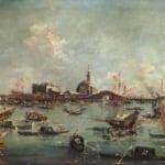 「リド島へ向かうヴェネツィア総督の船」  フランチェスコ・グアルディ