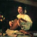 「リュートを弾く若者」  ミケランジェロ・メリジ・ダ・カラヴァッジオ