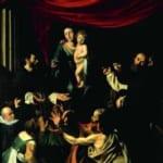 「ロザリオの聖母子」  ミケランジェロ・メリジ・ダ・カラヴァッジオ