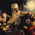 「ベルシャザルの饗宴」  レンブラント・ファン・レイン