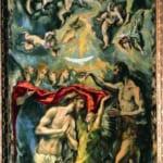 「キリストの洗礼」 エル・グレコ