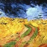 「烏の飛ぶ麦畑」 フィンセント・ファン・ゴッホ
