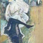 「踊るジャンヌ・アヴリル」 トゥルーズ=ロートレック