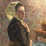 「緑のスカーフの女」 カミーユ・ピサロ