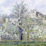 「春 プラムの花咲く菜園、ポントワーズ」 カミーユ・ピサロ