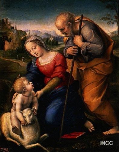 仔羊のいる聖家族」 ラファエロ・サンティ | 世界の美術館