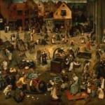 「謝肉祭と四旬節の間の争い」 ピーテル・ブリューゲル(父)