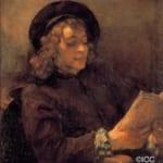 「本を読む画家の息子ティトゥス」 レンブラント・ファン・レイン
