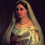 「ヴェールを被った婦人の肖像」 ラファエロ・サンティ