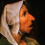 「老婦人の頭部」 ピーテル・ブリューゲル(父)