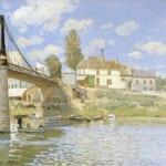 「ヴィルヌーヴ・ラ・ガレンヌの橋」 アルフレッド・シスレー