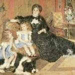 「シャルパンティエ夫人と子どもたち」 ルノワール (オーギュスト・ルノワール)
