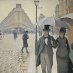 「パリの通り、雨」 ギュスターヴ・カイユボット