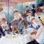 「船遊びの人々の昼食」 ルノワール (オーギュスト・ルノワール)