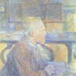 「ゴッホの肖像」 トゥルーズ=ロートレック