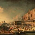 「ヴェネツィアに到着したフランス大使の歓迎式」 カナレット