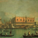 「ヴェネツィアのパラッツォ・ドゥカーレ」 カナレット