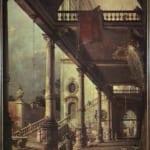 「柱廊と中庭」 カナレット