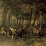 「牡鹿の闘い」 ギュスターヴ・クールベ