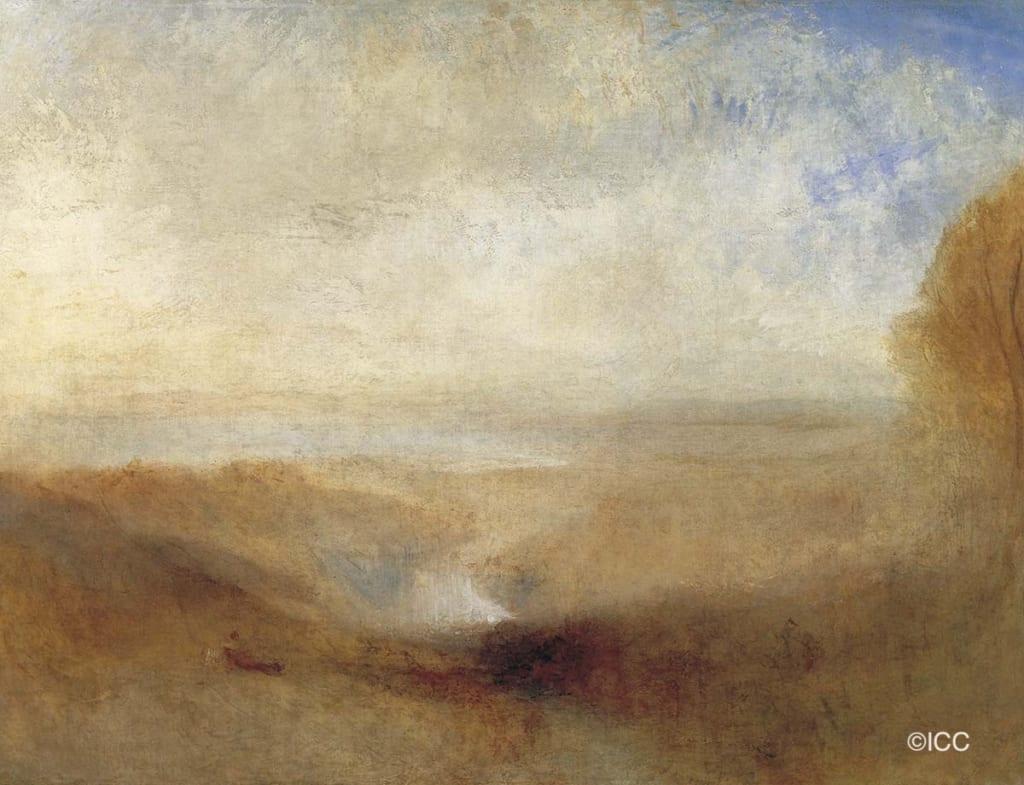 「河と湾の見える風景」 ターナー(ジョゼフ・マロード・ウィリアム・ターナー)