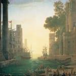 「ローマの聖女パウラの乗船とオスティア港風景」  ロラン(クロード・ロラン)