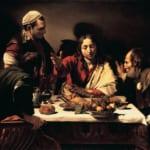 「エマオの晩餐」 カラヴァッジオ (ミケランジェロ・メリジ・ダ・カラヴァッジオ)