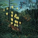 「ジャングル、虎と野牛の戦い」 アンリ・ルソー