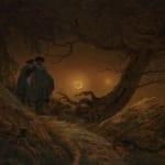 「月を見る二人の男」 フリードリヒ(カスパー・ダーヴィト・フリードリヒ)