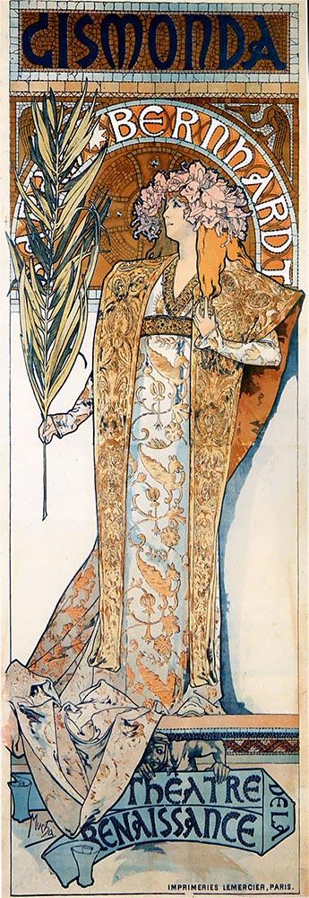 Alfons Mucha 1894 Gismonda