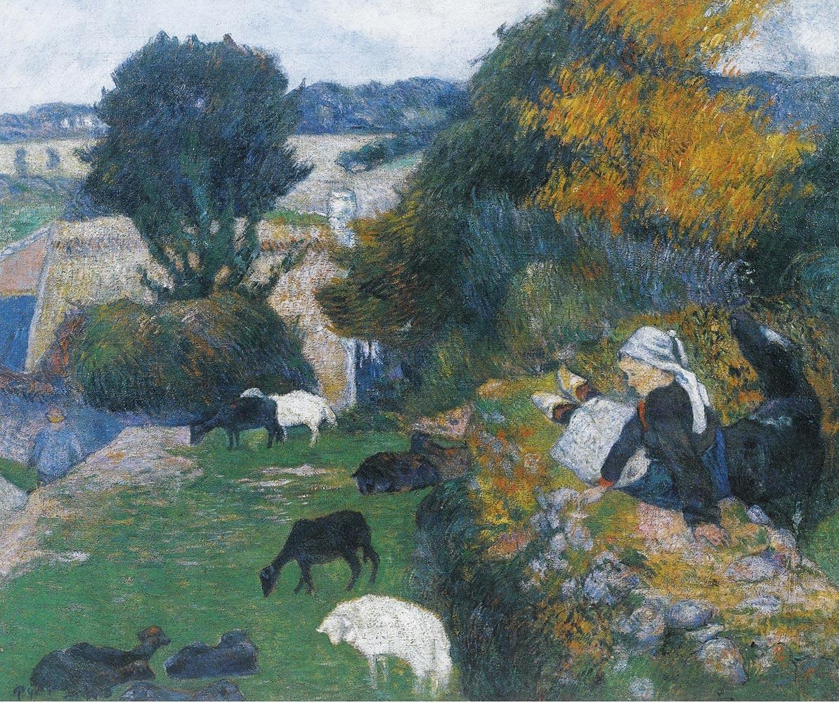 Paul Gauguin La bergère bretonne