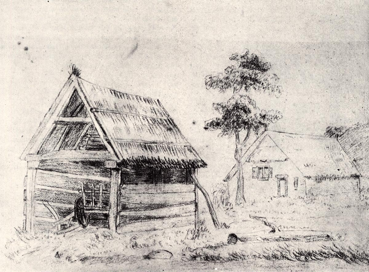 Van Gogh Barn and farmhouse