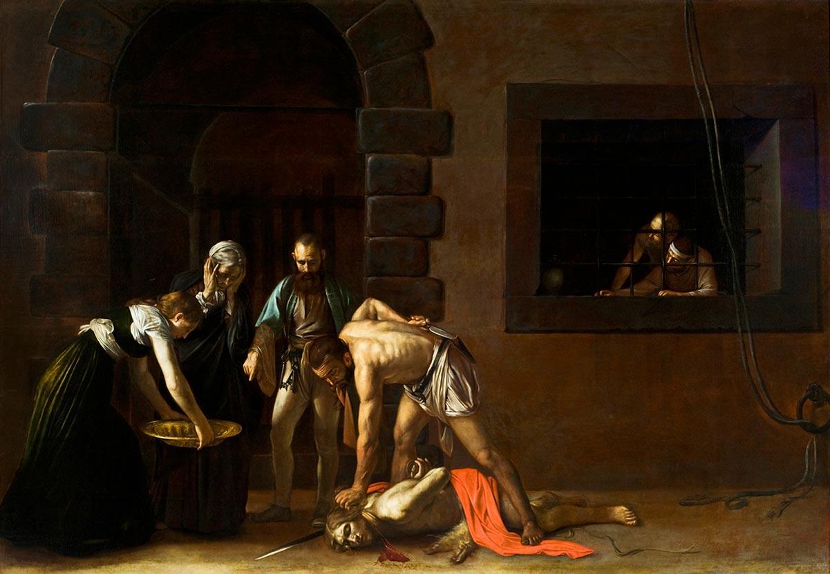 La decapitación de San Juan Bautista por Caravaggio