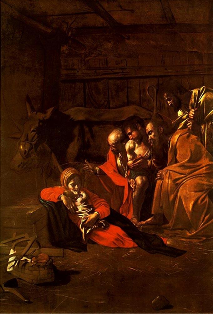 Caravaggio Adorazione dei pastori