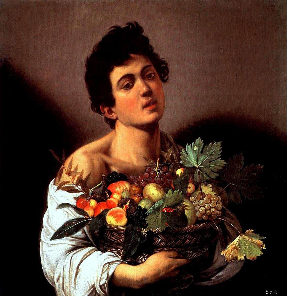 Caravaggio Fanciullo con canestro di frutta