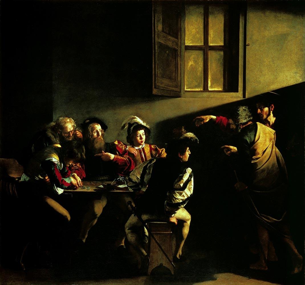 Caravaggio La vocazione di San Matteo