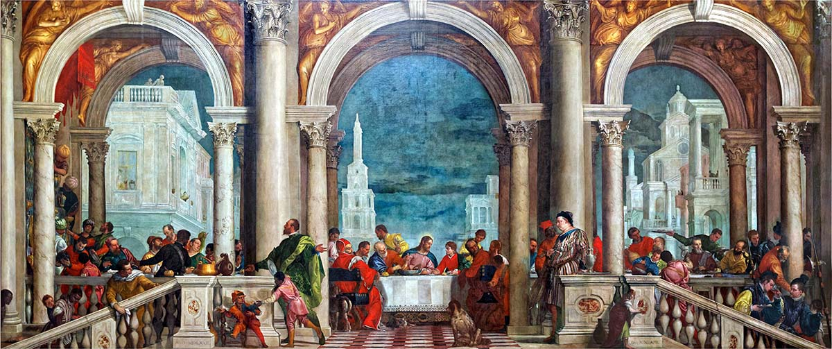 The Feast in the House of Levi by Paolo Veronese edited 2