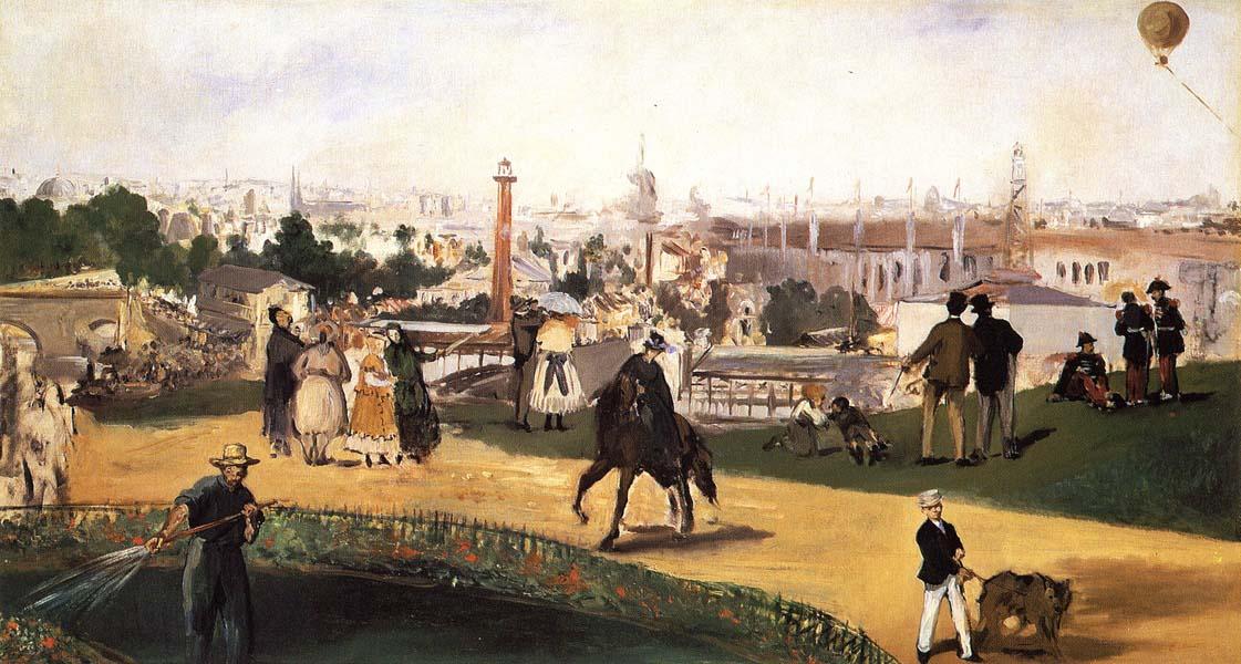 Manet Blick auf die Weltausstellung von 1867