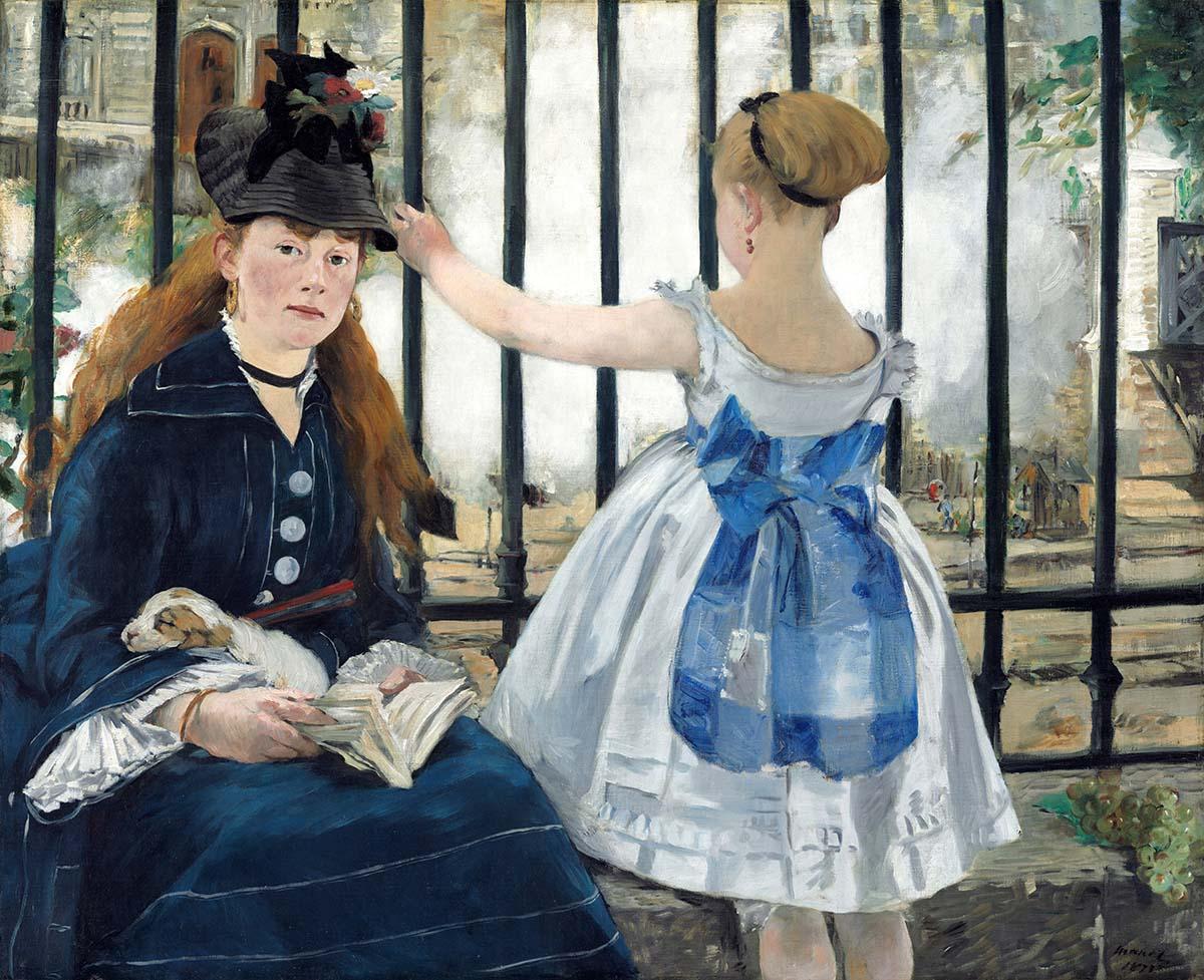 Edouard Manet Le Chemin de fer Google Art Project